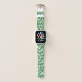 Tropisches grünes Palmblatt-Sommer-Muster Apple Watch Armband