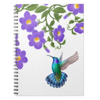 Tropisches grünes violettes ohriges notizblock