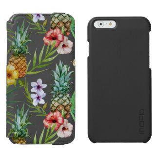 Tropisches Hawaii-Thema-Aquarell-Ananasmuster Incipio Watson™ iPhone 6 Geldbörsen Hülle