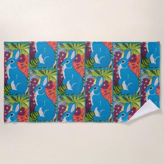 Tropisches hawaiisches Häschen-Entwurfs-Badetuch Strandtuch