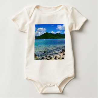 Tropisches Insel-Mary-Nebenfluss-Punkt-Ufer Baby Strampler