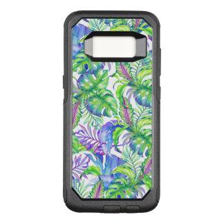 Tropisches Laub-Gelb-Rosa-grün-blauer Lavendel OtterBox Commuter Samsung Galaxy S8 Hülle