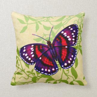 Tropisches lila Schmetterlings-Kissen Kissen