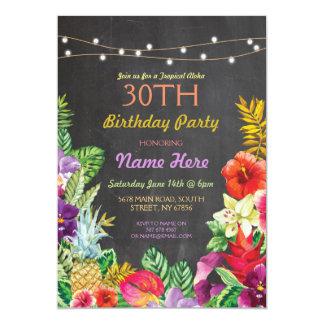 Tropisches Luau Aloha Kreide-Geburtstags-Party 12,7 X 17,8 Cm Einladungskarte