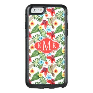Tropisches Monogramm des Kolibri-| OtterBox iPhone 6/6s Hülle