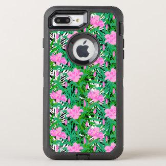 Tropisches Muster mit Dschungel-Blumen OtterBox Defender iPhone 8 Plus/7 Plus Hülle