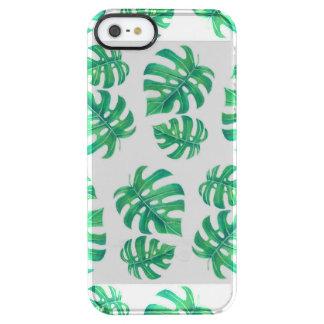 Tropisches Muster mit monstera Blätter Durchsichtige iPhone SE/5/5s Hülle