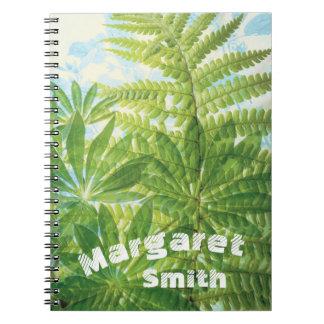Tropisches Notizbuch mit Ihrem Namen Notizblock