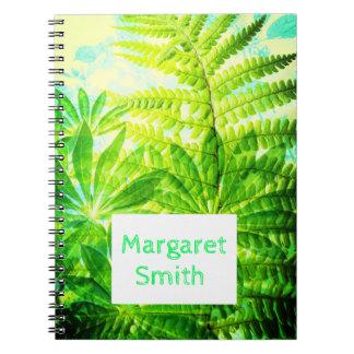 Tropisches Notizbuch mit Ihrem Namen Spiral Notizblock