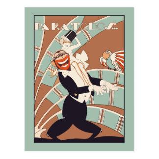 Tropisches oder lateinisches Party des Kunst-Dekos Postkarte
