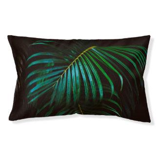 Tropisches Palmblatt-entspannendes grünes Haustierbett