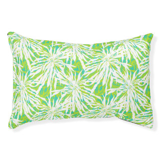 Tropisches Palmblatt-Muster Haustierbett