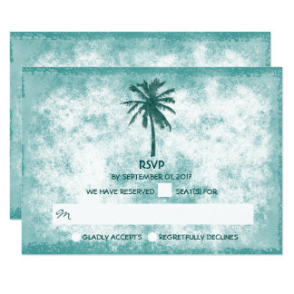 Tropisches Palme-Strand-Hochzeit UAWG 8,9 X 12,7 Cm Einladungskarte