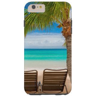 Tropisches Palme-Strand-Stühle iPhone 6/6s plus Tough iPhone 6 Plus Hülle