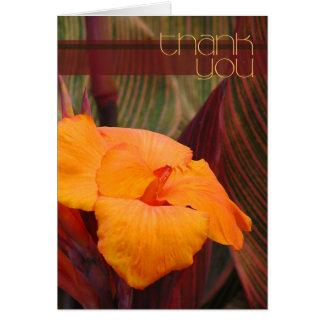Tropisches Paradies danken Ihnen Karte