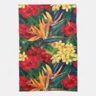 Tropisches Paradies-hawaiische Blumenvertikale Handtuch