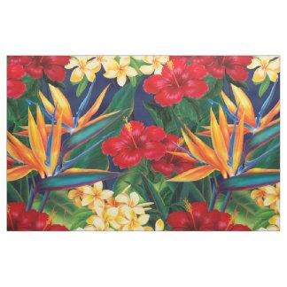 Tropisches Paradies-hawaiisches Blumen Stoff