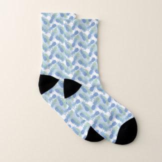 Tropisches Pastellananas-Muster Socken