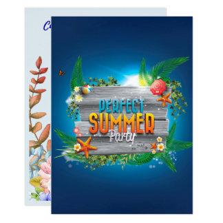 Tropisches perfektes Sommer-Party laden ein 12,7 X 17,8 Cm Einladungskarte