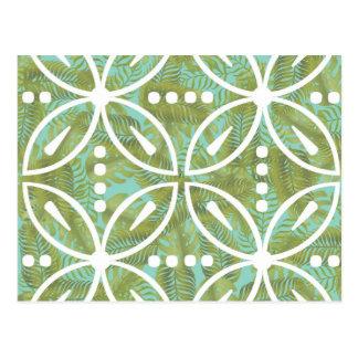 Tropisches Retro Muster Postkarte