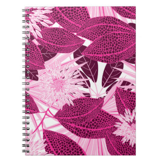 Tropisches rosa gepunktetes Blumen Notizblock