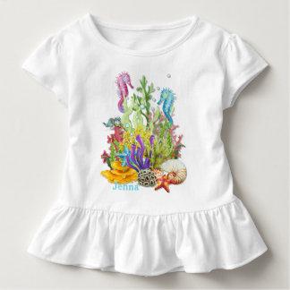 Tropisches Seeleben-Blau Kleinkind T-shirt