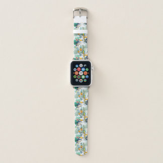 Tropisches Sommer Ananas-Papageien-Vogel-Aquarell Apple Watch Armband