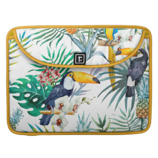 Tropisches Sommer Ananas-Papageien-Vogel-Aquarell Sleeve Für MacBooks
