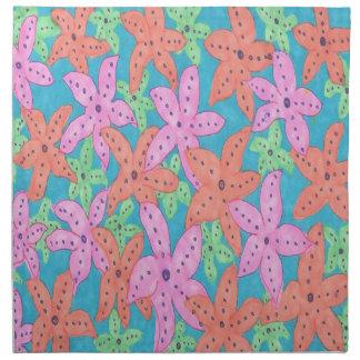 Tropisches Starfish-Muster Stoffserviette