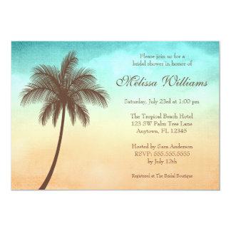Tropisches Strand-Palme-Brautparty 12,7 X 17,8 Cm Einladungskarte