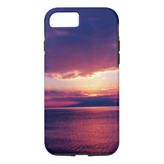 Tropisches Strand-Sonnenuntergang-Rosa-Wasser iPhone 8/7 Hülle
