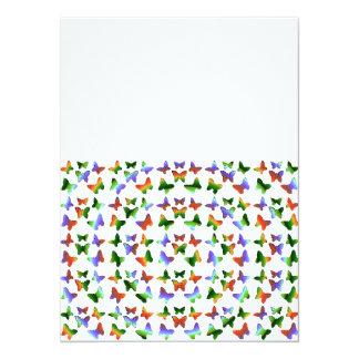 Tropisches Strudel-Schmetterlings-Muster 14 X 19,5 Cm Einladungskarte