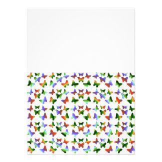 Tropisches Strudel-Schmetterlings-Muster Einladungskarten