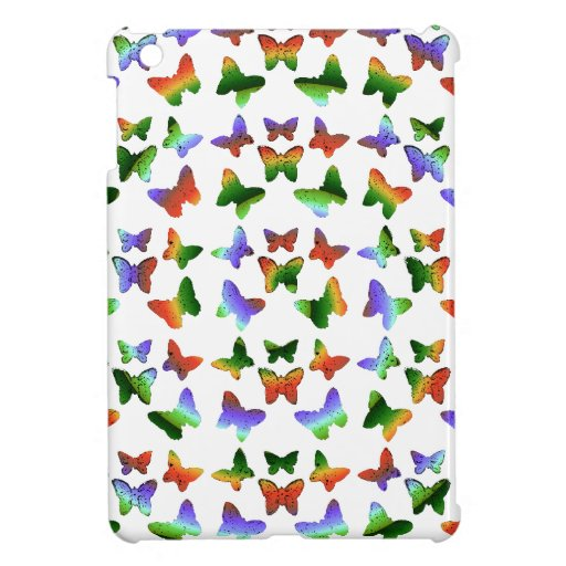 Tropisches Strudel-Schmetterlings-Muster iPad Mini Schutzhülle
