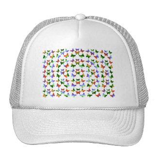 Tropisches Strudel-Schmetterlings-Muster Cap