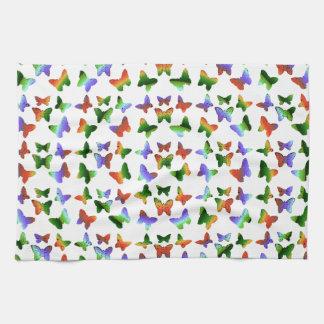 Tropisches Strudel-Schmetterlings-Muster Küchenhandtücher