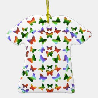 Tropisches Strudel-Schmetterlings-Muster Weihnachtsbaum Ornament
