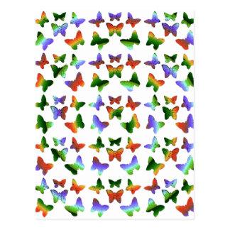 Tropisches Strudel-Schmetterlings-Muster Postkarte