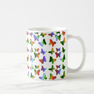 Tropisches Strudel-Schmetterlings-Muster Tasse