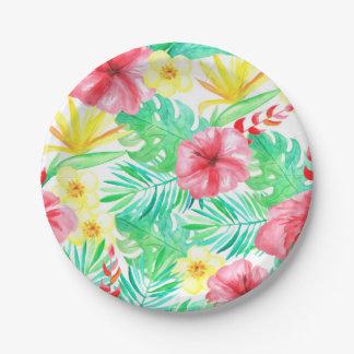 Tropisches Themed Party-Teller-Brautdusche Pappteller