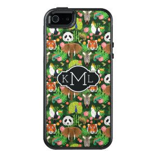 Tropisches Tiermonogramm der mischungs-| OtterBox iPhone 5/5s/SE Hülle