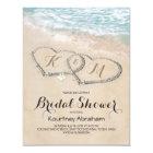 Tropisches Vintages Strand-Herz-Brautparty Karte