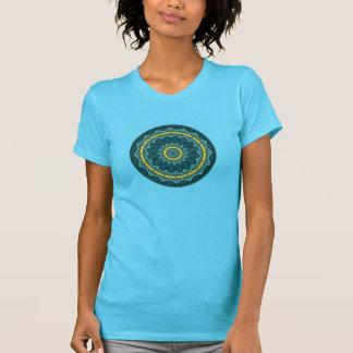 Tropisches Vogelfeder-Kreis Macaw-Knickentengelb T-Shirt
