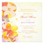 Tropisches Watercolor-Blumen-Brautparty lädt ein Personalisierte Ankündigungen