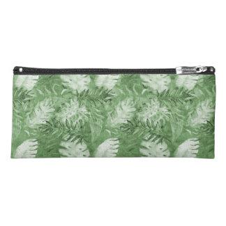 Tropisches Watercolor-Grün-Blätter Stiftetasche