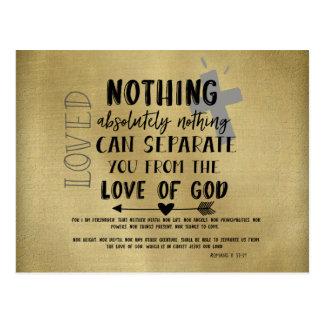 Trost des Liebe-Bibel-Verses mit Zitat Postkarte