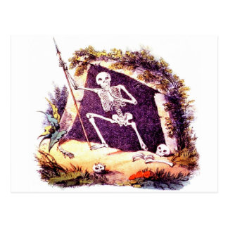 Trostlose alte Postkarte Königs Death