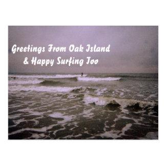 Trostloser Tag an der Küste Postkarte