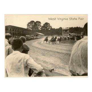 Trotting Rennen, West- VirginiaStaat ehrlich Postkarte