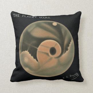 Trouvelot Zeichnungen - die Planeten-Mars Kissen